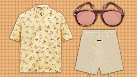 Bode cowboy shirt, Persol x JW Anderson sunglasses, Fear of God Shorts