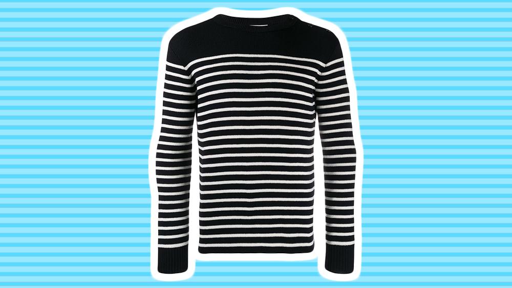 Saint Laurent marinière sweater.