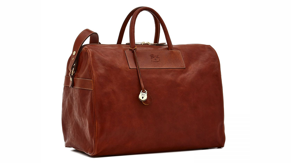 Il Bisonte leather duffle bag ($955).