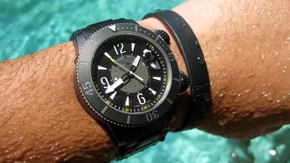 Adam Craniotes' Jaeger-LeCoultre Master Compressor Diving Alarm Navy SEAL Beverly Hills Boutique Incursion Edition