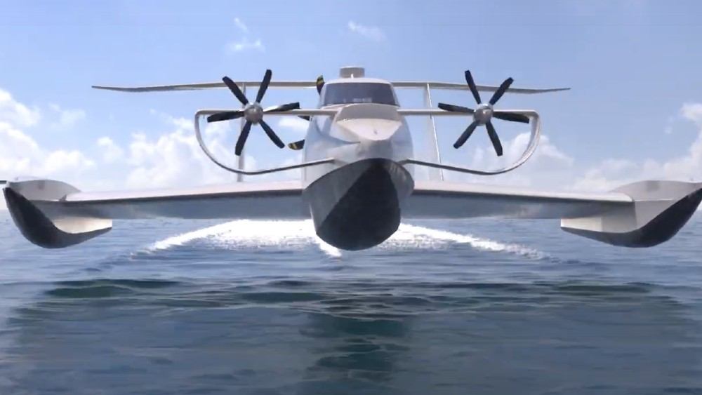 The EP-15 is a amphibious flying ship
