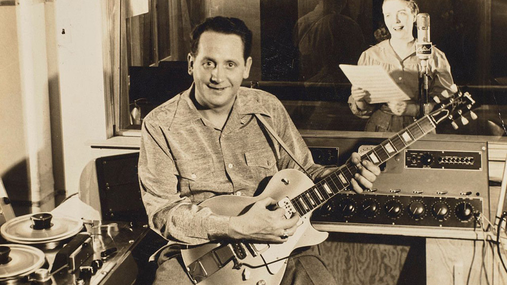 """Les Paul' and his """"Number One"""" Les Paul Model Artist's Prototype"""