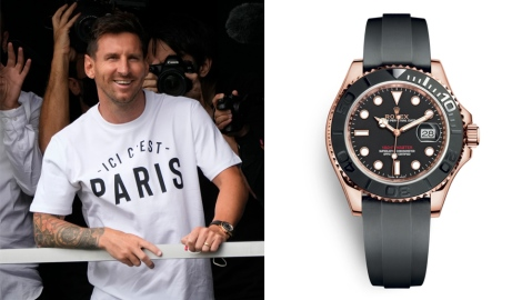 Lionel Messi and his Rolex Yacht-Master