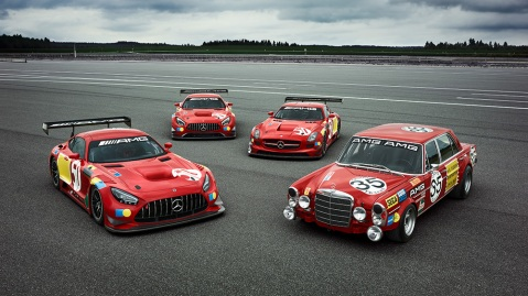 """Mercedes-Benz 300 SEL 6.8 AMG und Sondermodelle """"50 Years Legend of Spa"""" Mercedes-Benz 300 SEL 6.8 AMG and """"50 Years Legend of Spa"""" special edition models"""
