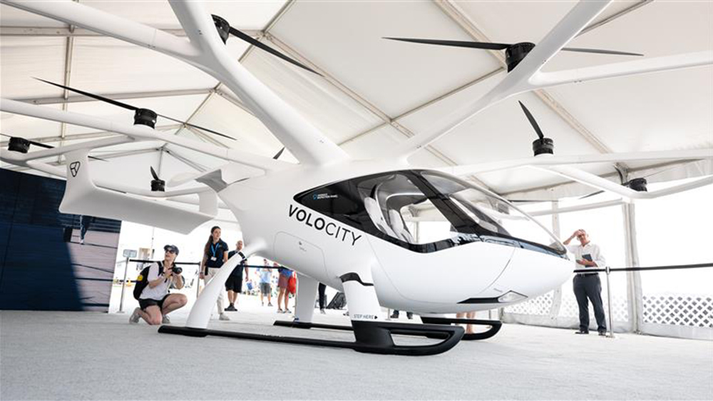 The VoloCity on display at AirVenture 2021