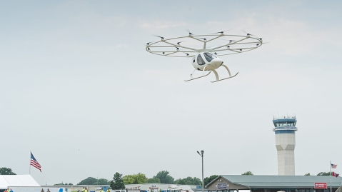 The Volocopter 2X takes flight at AirVenture 2021