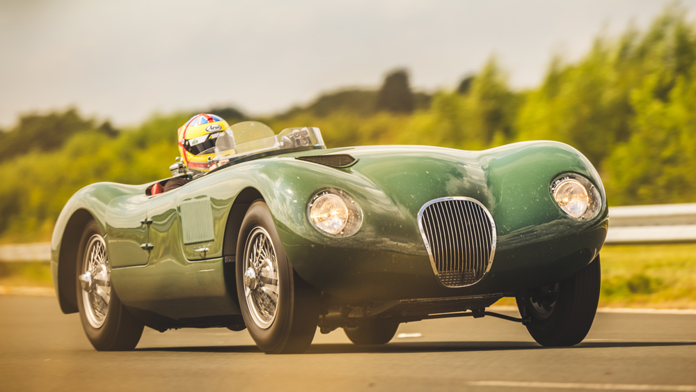 Jaguar's C-type Continuation being tested on track.