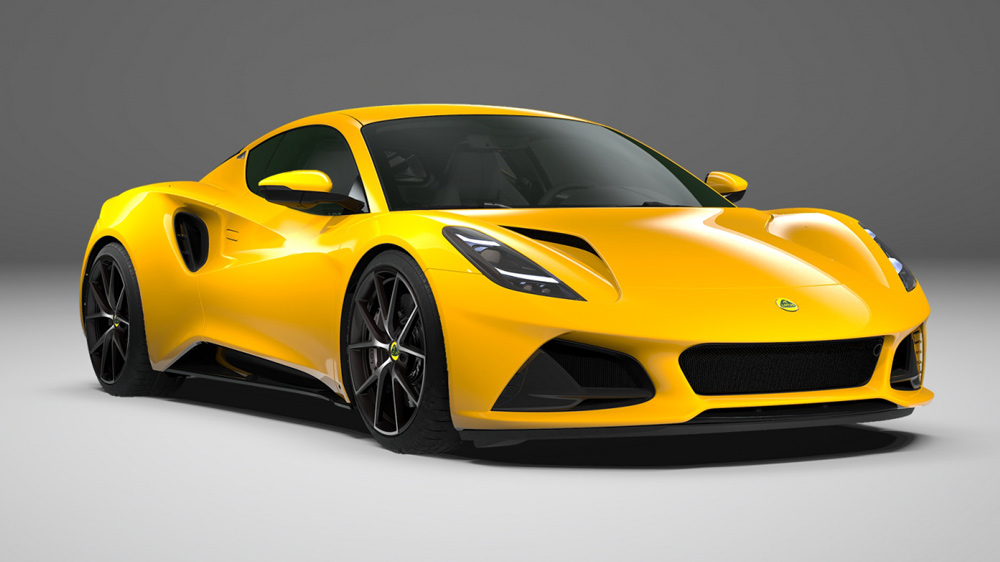 The Lotus Emira V6 First Edition in Hethel Yellow.