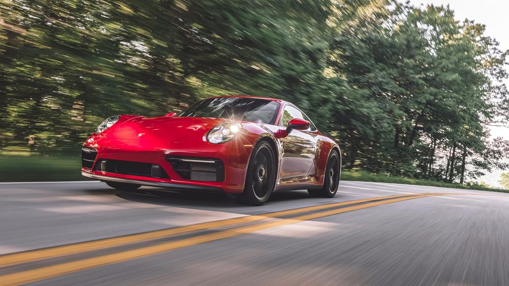 Driving a 2022 Porsche 911 GTS.