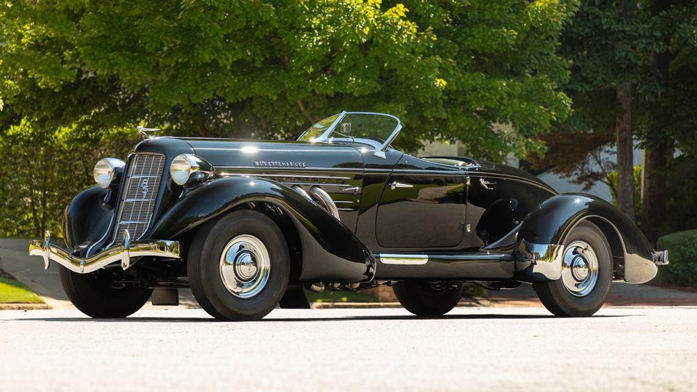 A 1935 Auburn 851 Supercharged Speedster.
