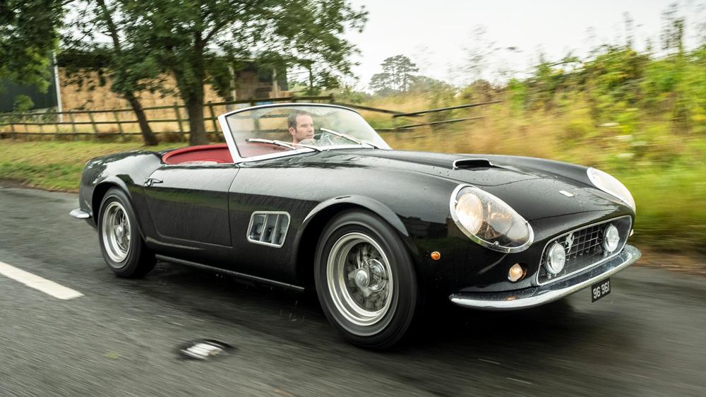 Driving GTO Engineering's replica of the Ferrari 250 GT SWB California Spyder.