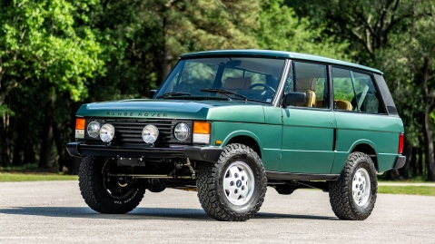 A 1991 Range Rover Classic restomod.