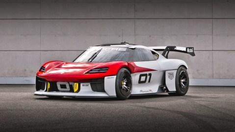 Porsche's Mission R, an all-electric concept race car.