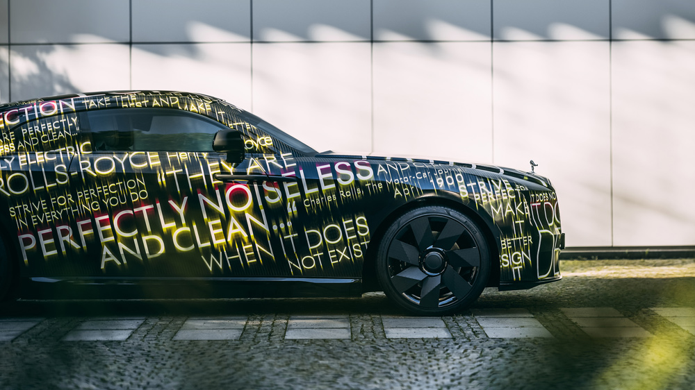 Rolls-Royce's all-electric Spectre still under wraps.