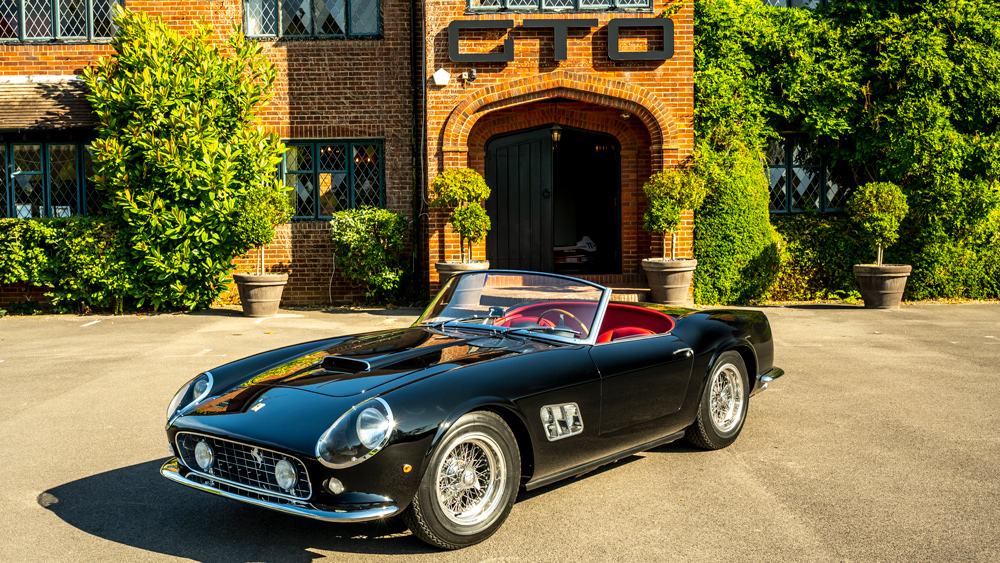 GTO Engineering's replica of the Ferrari 250 GT SWB California Spyder.