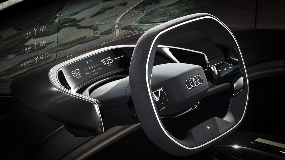 The interior of the Audi Grandsphere concept car.