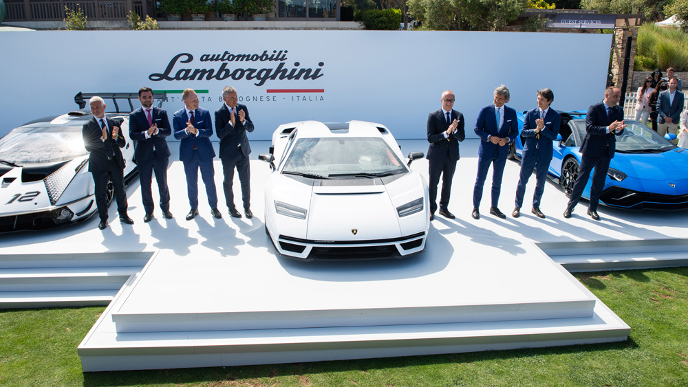 The debut of the Lamborghini Countach LPI 800-4 at the 2021 Quail Motorsports Gathering in Northern California.