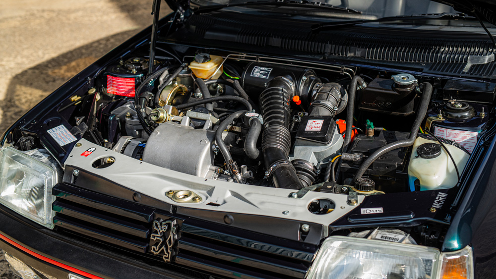 The 1.6-liter engine inside Tolman Motorsport's Peugeot 250 GTI restomod.