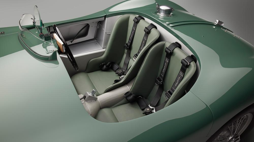The cockpit of Jaguar's C-type Continuation.
