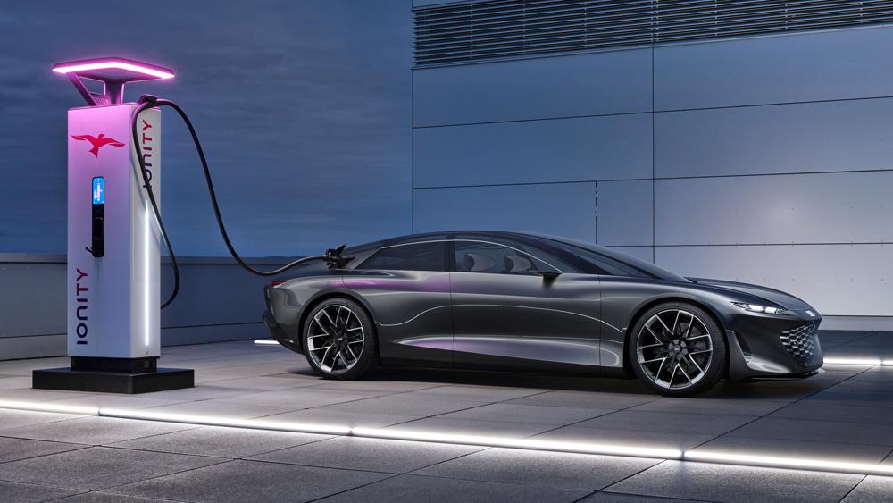 The Audi Grandsphere concept car.