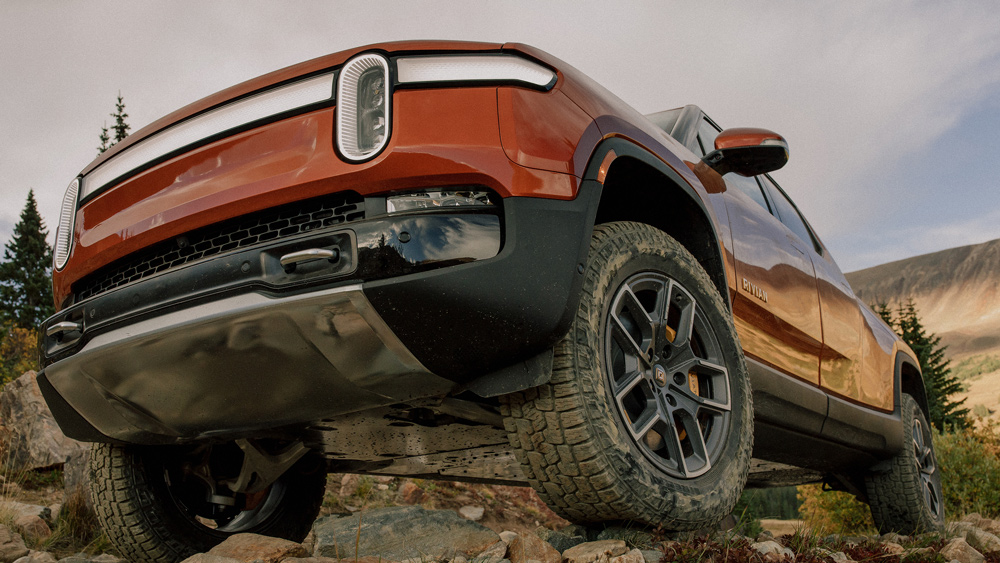 The Rivian R1T electric truck.