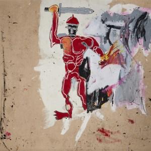 Basquiat 'Warrior' Painting