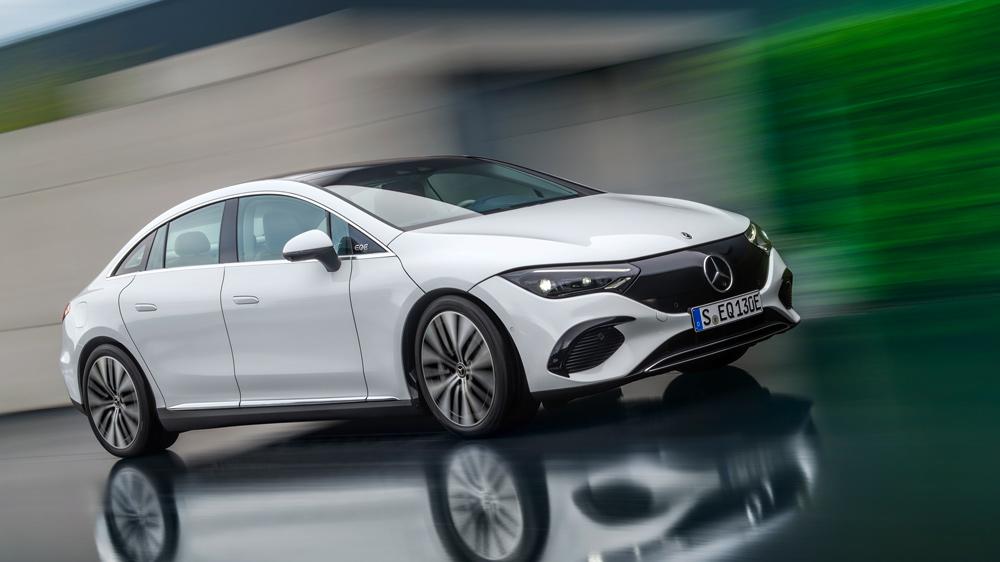 The Mercedes-Benz EQE.