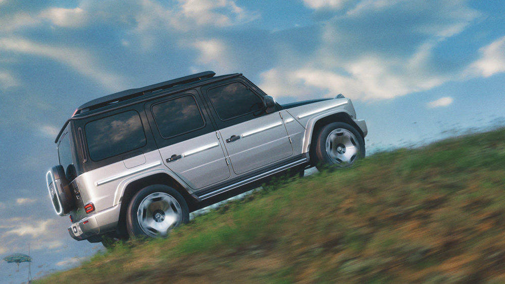 The Concept EQG, an all-electric Mercedes-Benz G-Wagen prototype.