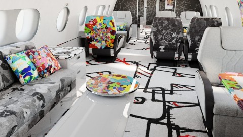 Cyril Kongo's customized interior on an ACJ220 business jet
