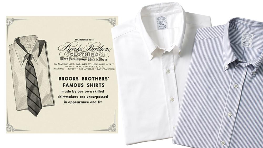 Brooks Brothers' OCBDs through the years.
