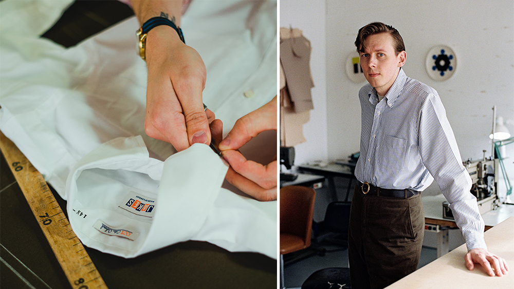Jake Wigham, right, is dedicated to tailoring OCBDs with authenticity.