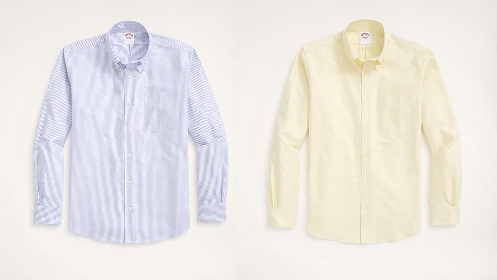 """Brooks Brothers' """"new"""" OCBD harkens back to the OG in solids, stripes and patch-worked """"fun shirt"""" variations."""