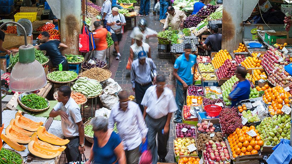 Market in Port Louis, Mauritius