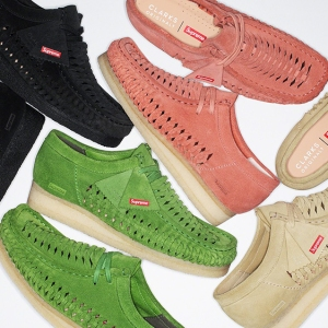 Supreme and Clarks Wallabee Boots