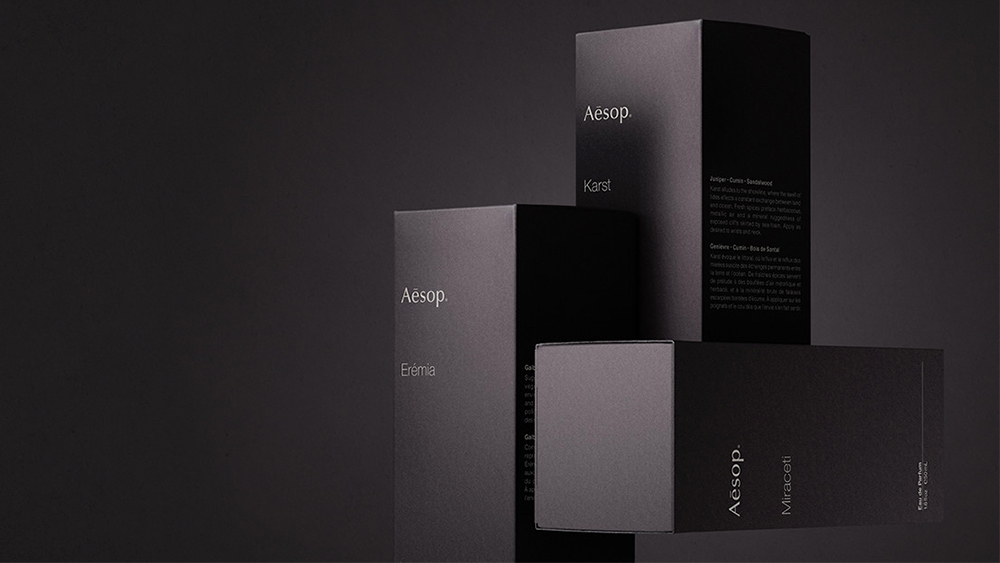The boxes of the three scents in the Othertopias collection.