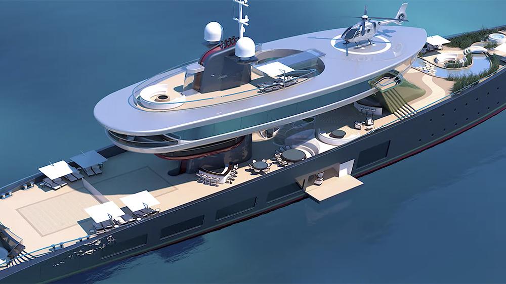 "Lürssen's ""Alice"" concept yacht"