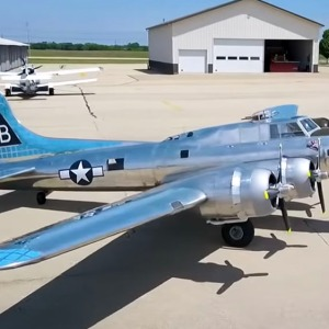 Jack Bally's 1:3 scale Boeing B-17 Flying Fortress bomber replica