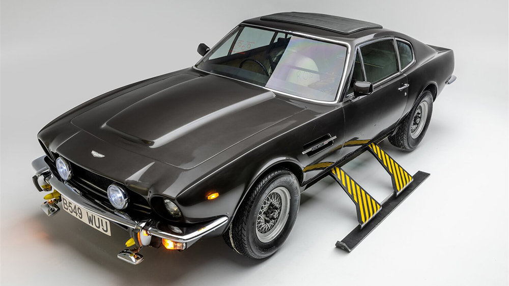 """The 1985 Aston Martin V8 from """"The Living Daylights"""" (1987)"""