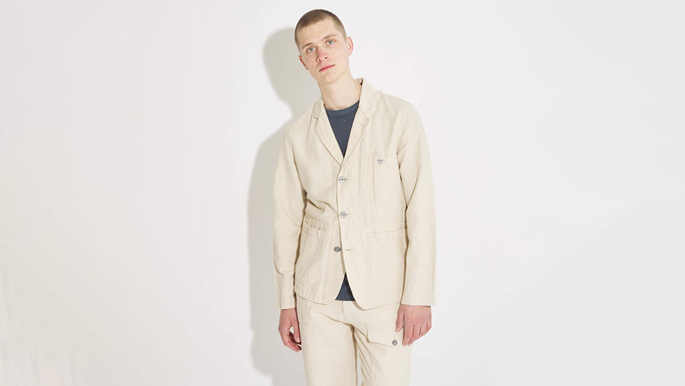 Nigel Cabourn's British Army blazer ($156) and trousers ($120) are far from corporate.