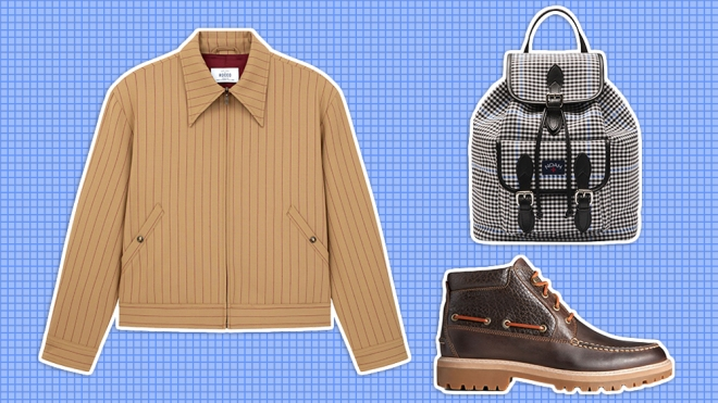 Our Lady of Rocco jacket, Noah backpack, Sperry boot