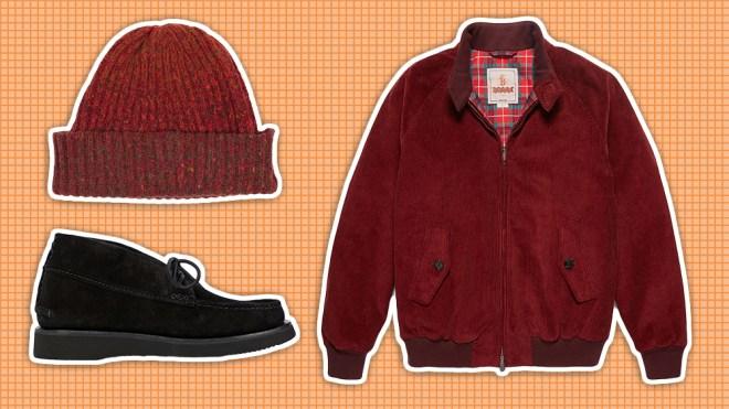 Inis Meain beanie, Baracuta jacket, Yuketen chukka shoes