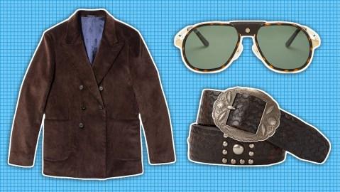 Noah jacket, Cartier sunglasses, Ralph Lauren belt