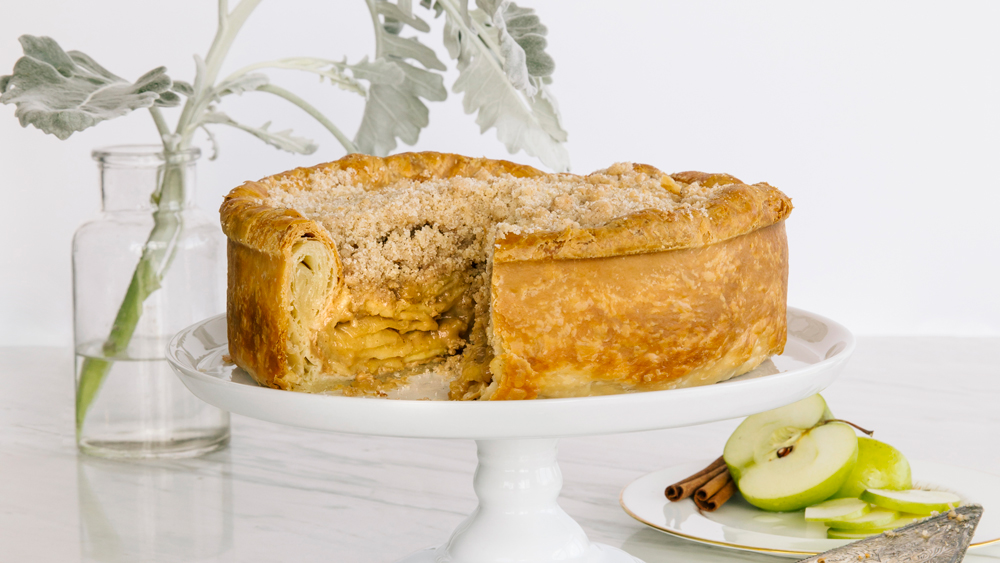 deep dish apple pie crumble topping