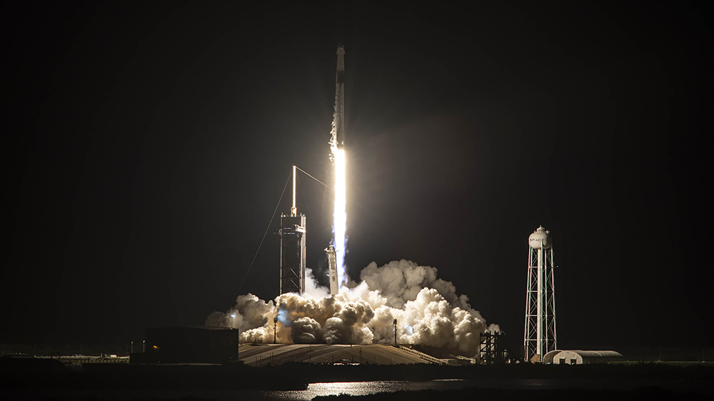 Inspiration4 launches from Kennedy Space Center in Cape Canaveral, Florida