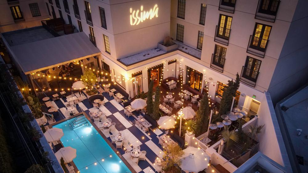 issima restaurant patio pool