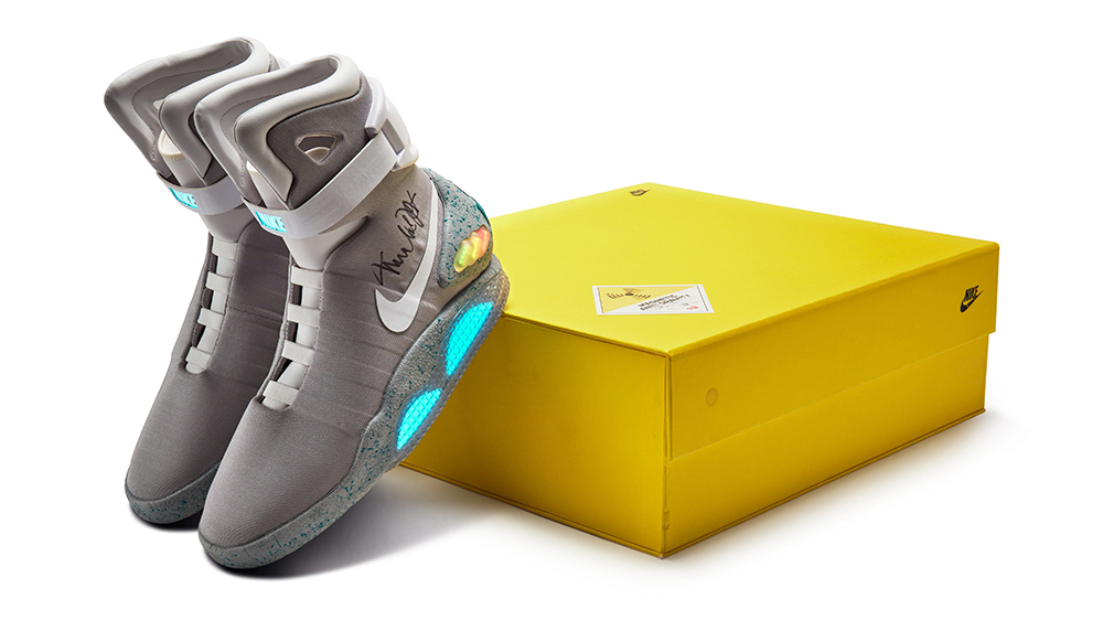 'Again to the Future' Nike Mags Signed by Michael J. Fox Go up for Sale – Robb Report
