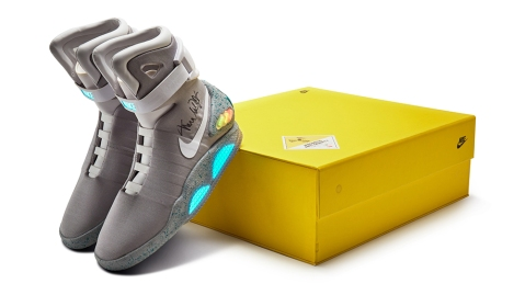 """Nike Mag """"Back to the Future"""" signed by Michael J. Fox"""