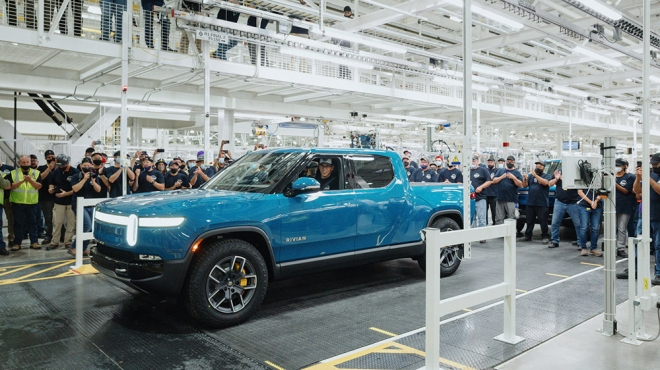 The first Rivian R1T built for a customer