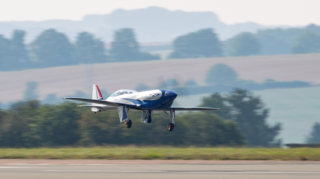 """Rolls-Royce's all-electric plane, the """"Spirit of Innovation"""""""