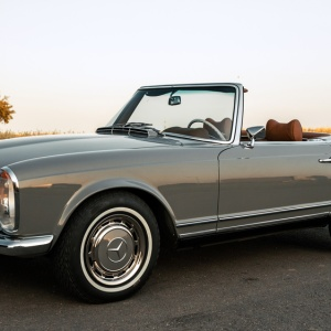 A 1969 Mercedes-Benz 280 SL restored by Arthur Bechtel Classic Motors.